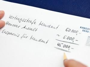 Anwaltsgebühren und Honorare der Kanzlei Bräu